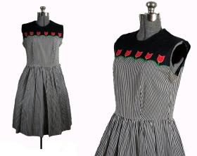 50s tulips dress