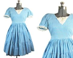 50s Gingham Dress