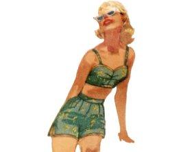 50s bikini playsuit.