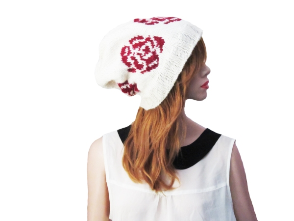 The English Rose hat pattern by the Red Fox and Gown.